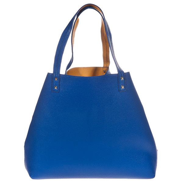 35x32x12cm Bolso handbag reversible Elle - azul royal/ocre