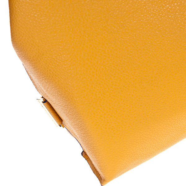 35x32x12cm Bolso Tote reversible Elle - azul royal/ocre